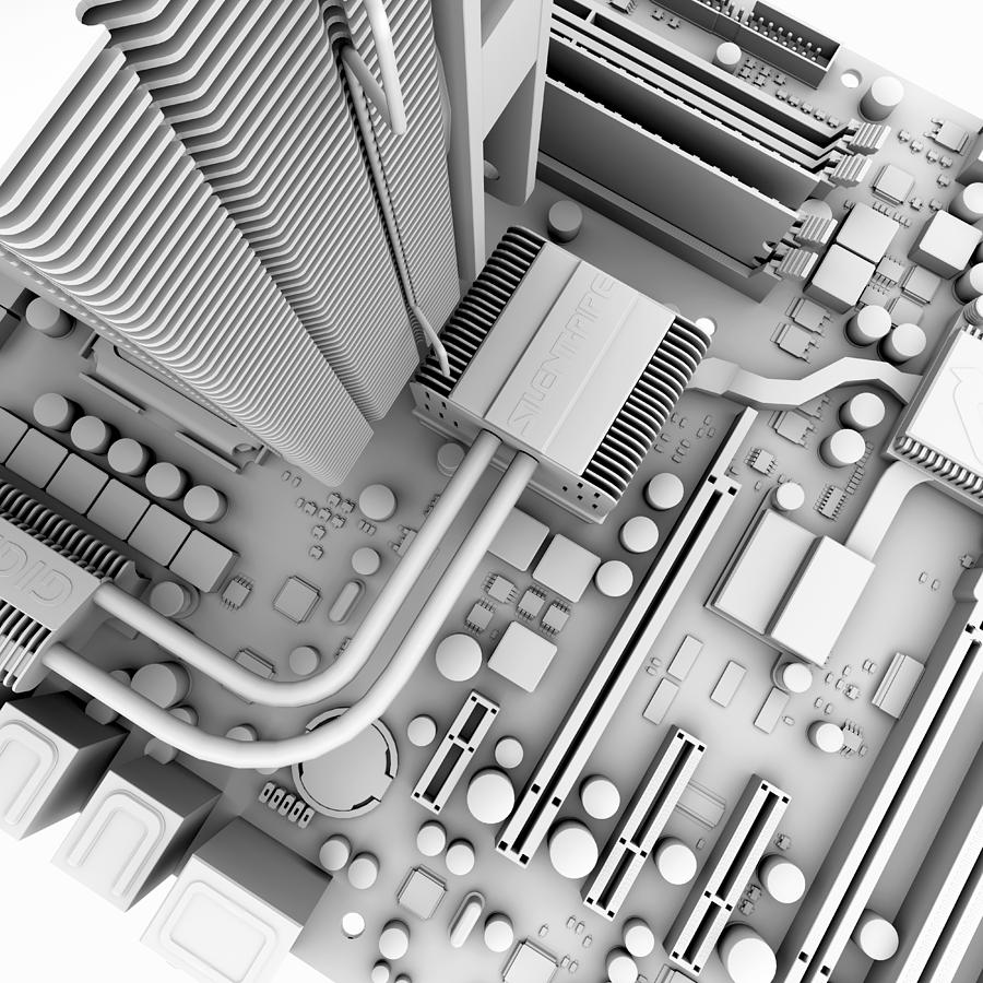 Computer Motherboard, Artwork Photograph