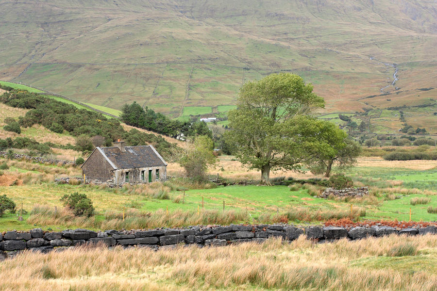 Cottage At The Foothill Of The Colorful Connemara Mountains Ireland  Photograph  - Cottage At The Foothill Of The Colorful Connemara Mountains Ireland  Fine Art Print