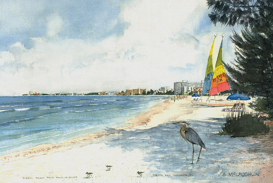 Crescent Beach On Siesta Key Painting