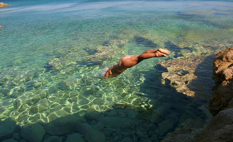 Dive Into The Sea Photograph by Manolis Tsantakis