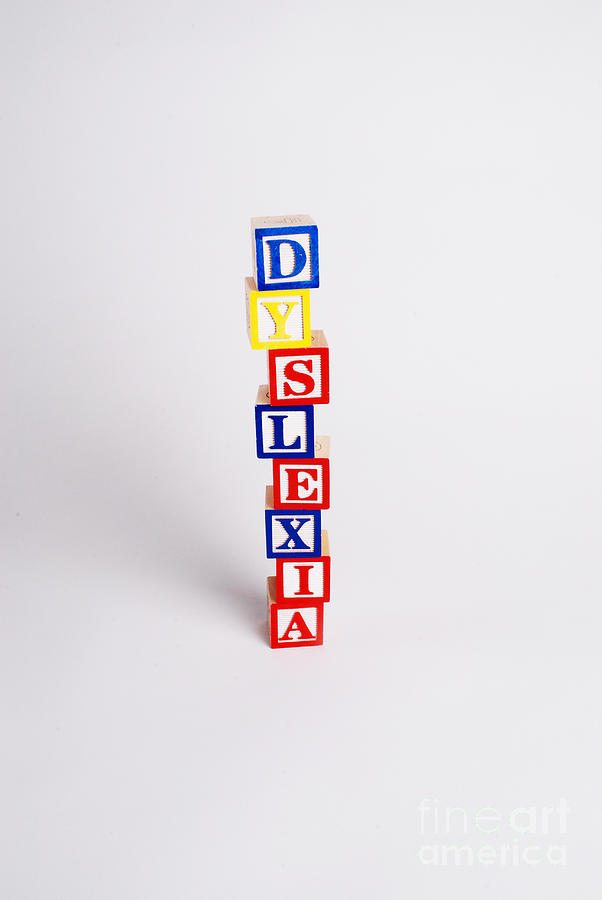 Wooden Blocks Photograph - Dyslexia by Photo Researchers, Inc.