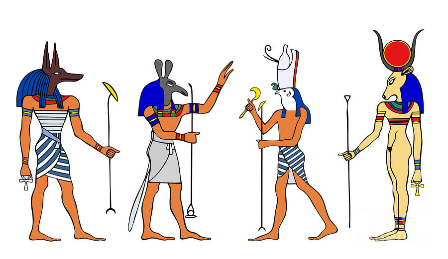 Egyptian Gods And Goddess Drawing