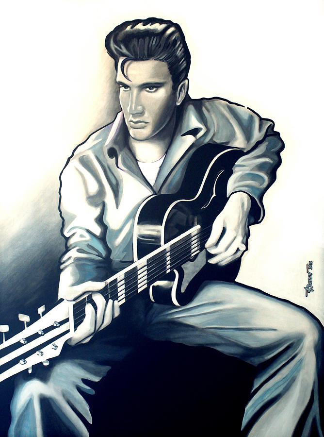 Elvis Drawing  - Elvis Fine Art Print