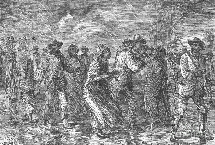 Escaping To Underground Railroad Photograph