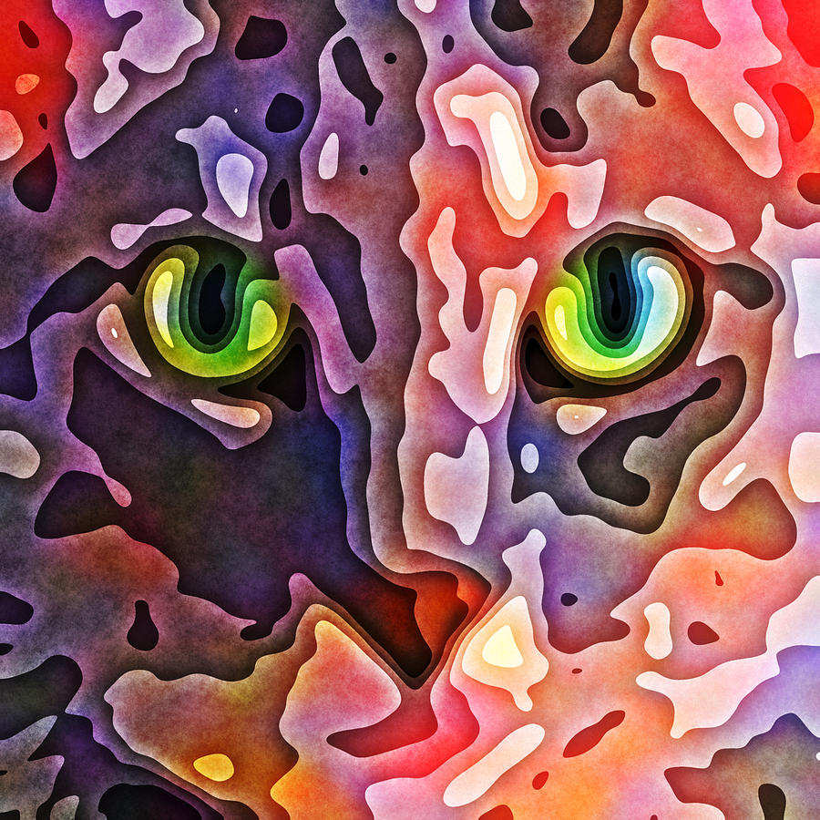 Feline Face Abstract Photograph