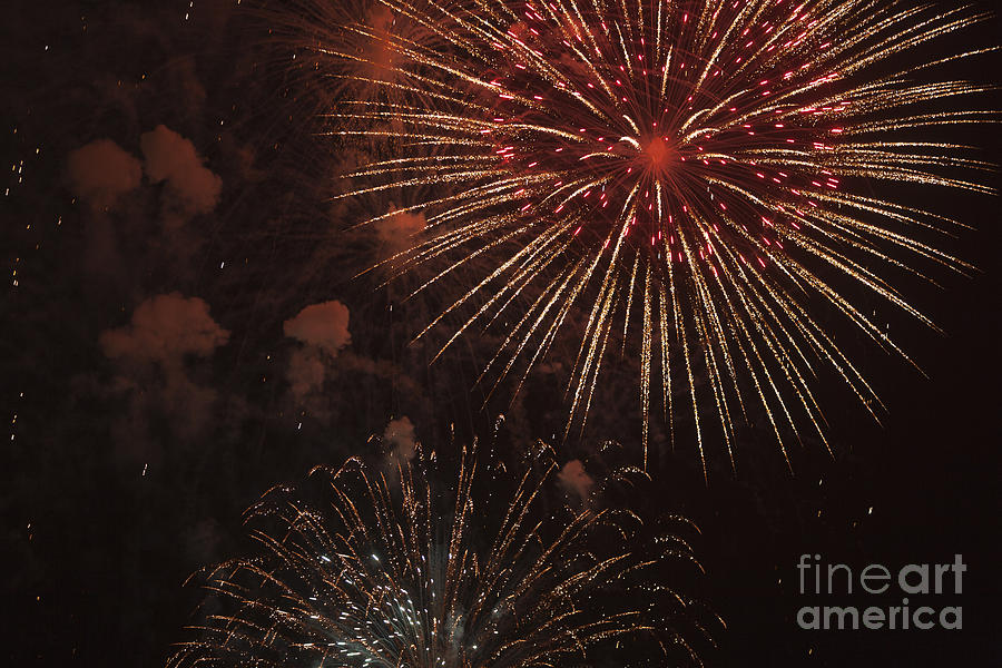 4th Of July Photograph - Fireworks by Juan  Silva
