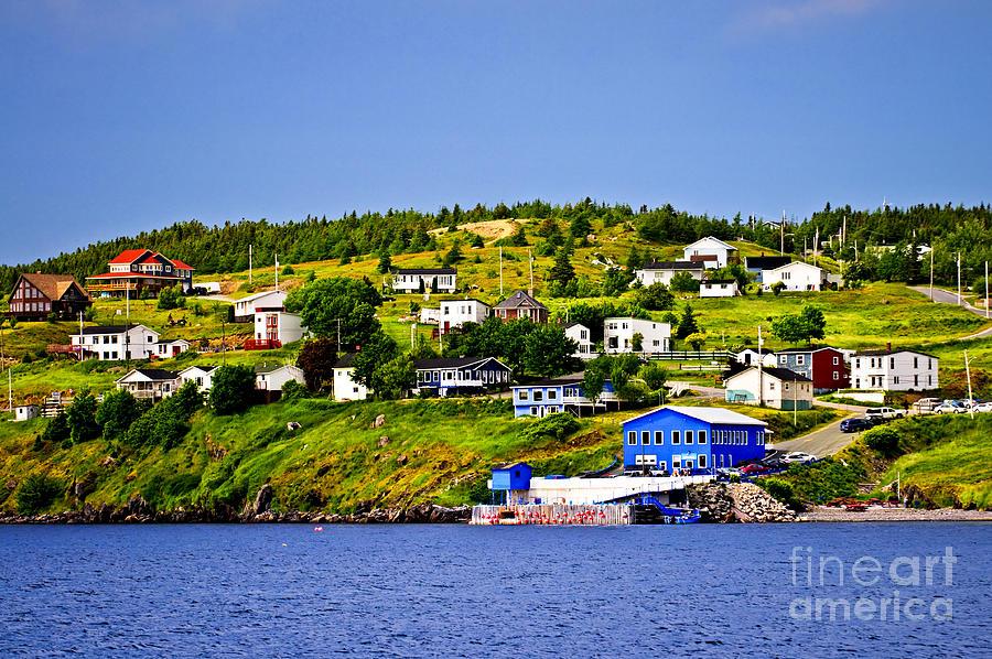 Fishing Photograph - Fishing Village In Newfoundland by Elena Elisseeva