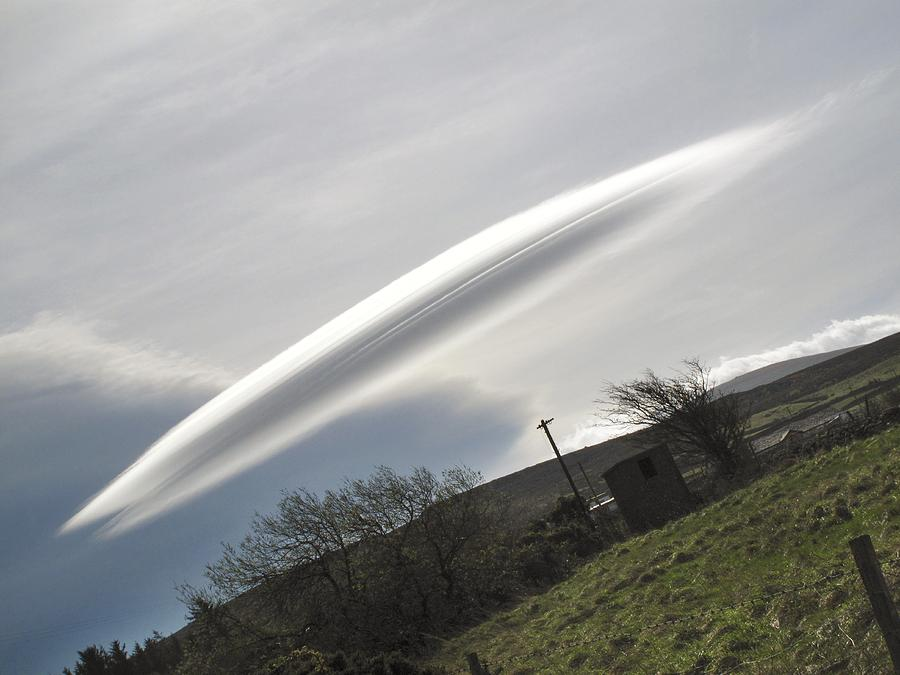 Flying Saucer Cloud Photograph