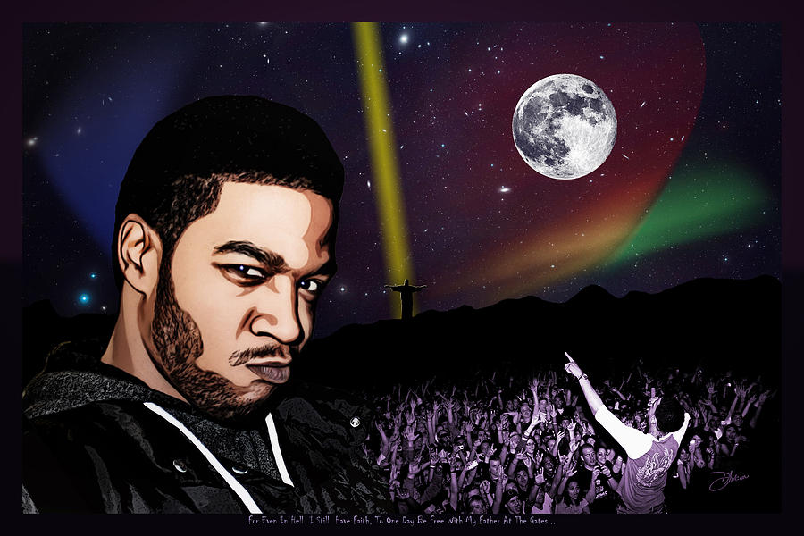 For Even In Hell - Kid Cudi Digital Art  - For Even In Hell - Kid Cudi Fine Art Print