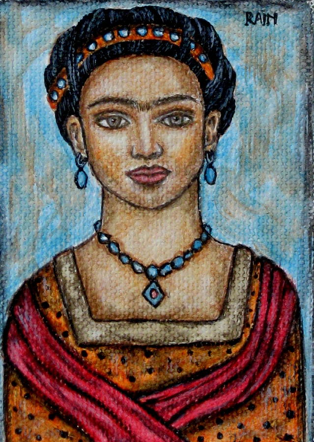 Frieda Kahlo Painting by Rain Ririn - Frieda Kahlo Fine Art Prints ...