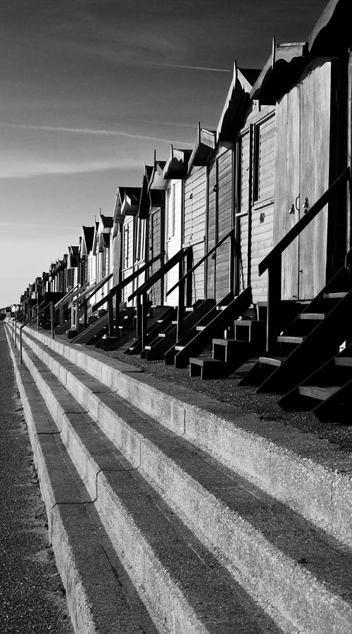 Frinton On Sea Photograph - Frinton On Sea Beach Huts by Darren Burroughs
