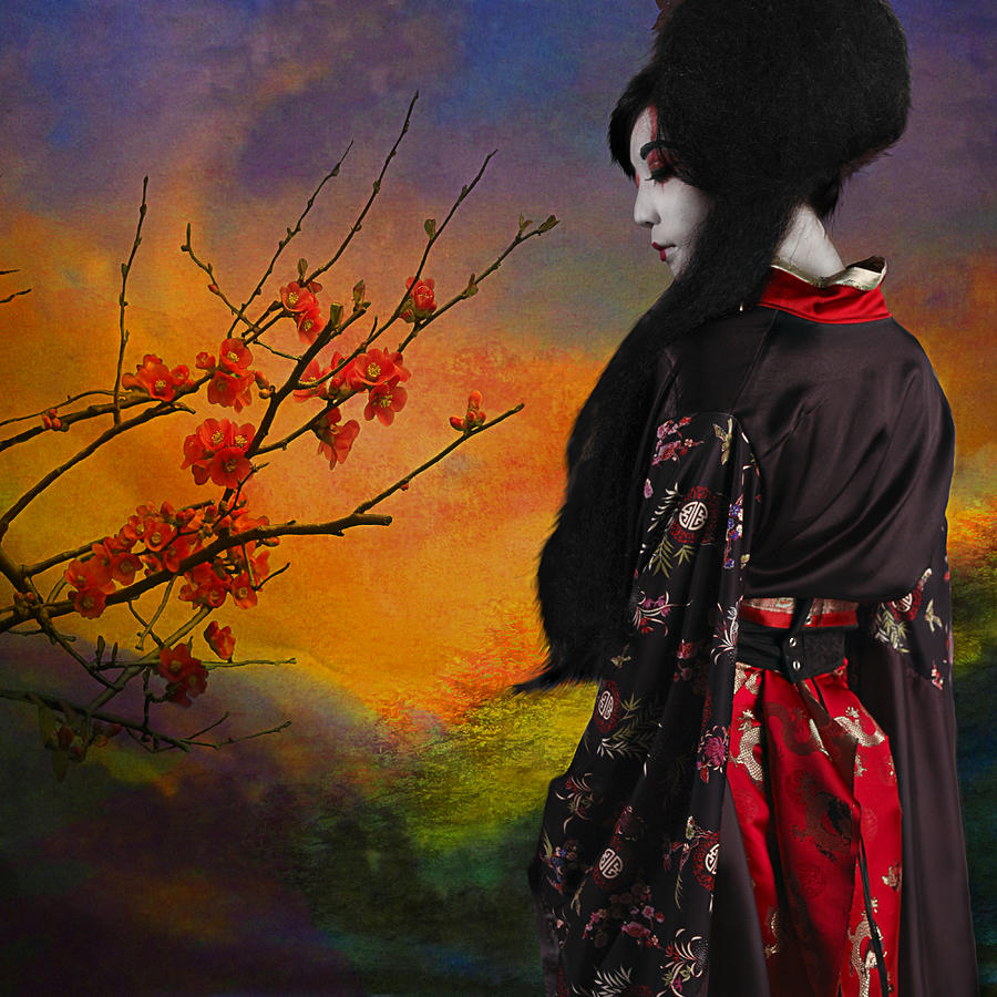 Geisha With Quince Photograph