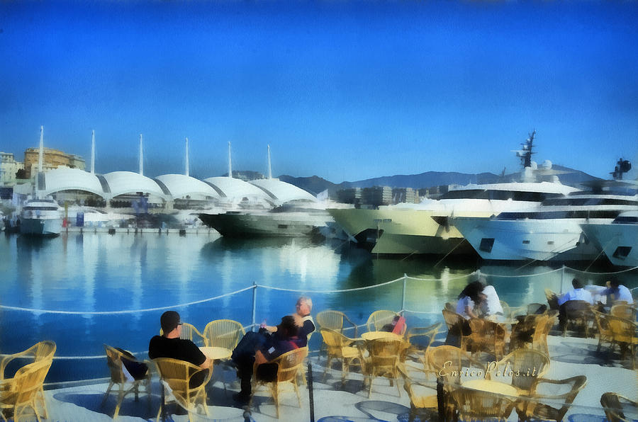 Salone Nautico Painting - Genova Salone Nautico Internazionale - Genoa Boat Show by Enrico Pelos