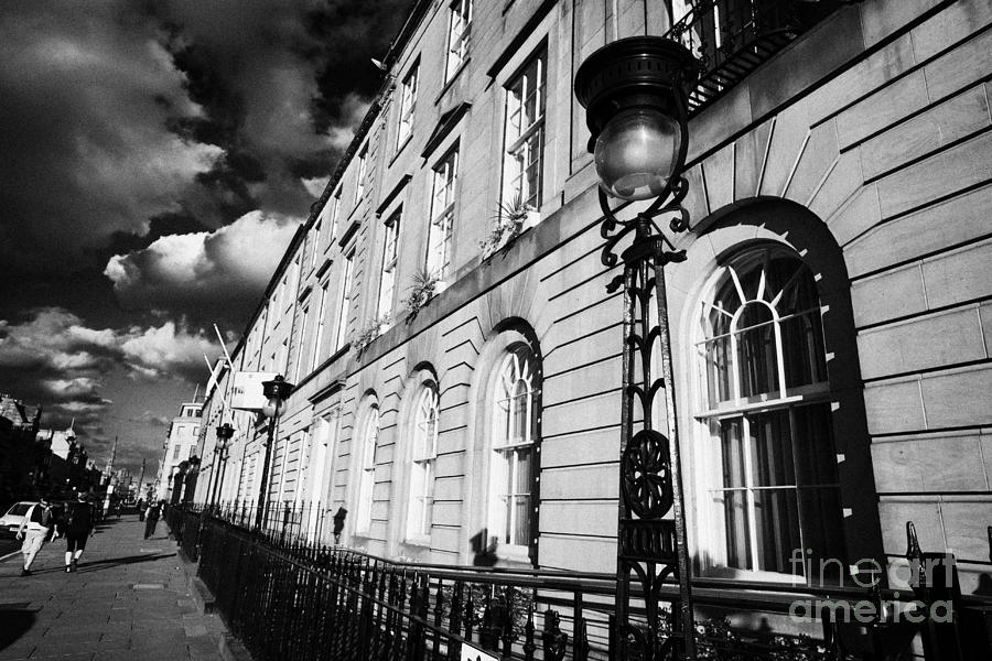 George Street Georgian Town Houses And Street Lighting Edinburgh Scotland Uk