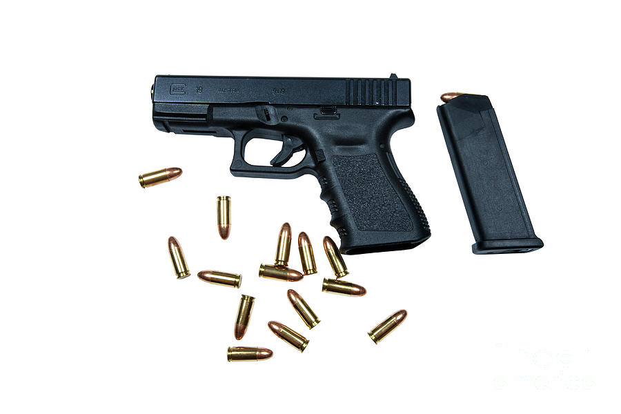 Glock Model 19 Handgun With 9mm Photograph