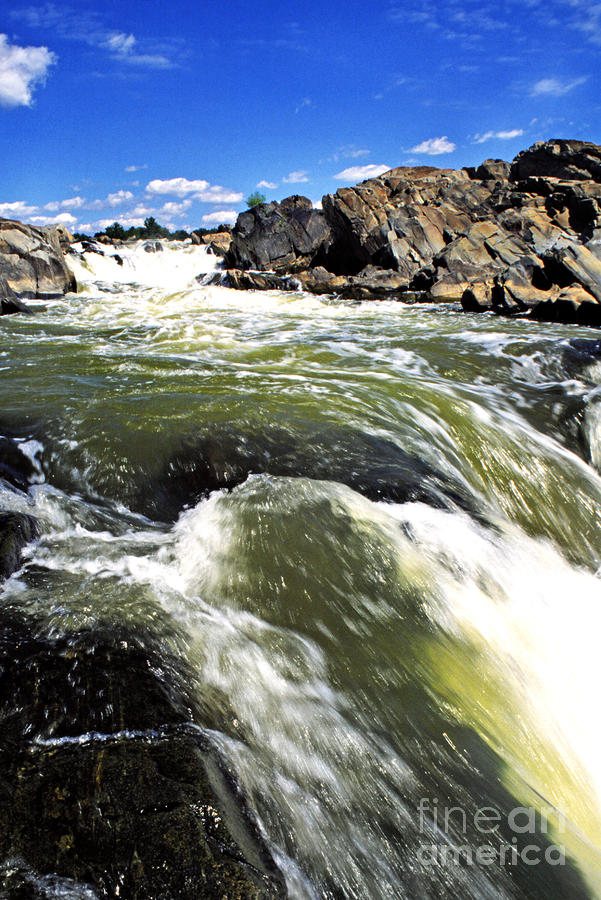 Great Falls Of The Potomac River Photograph  - Great Falls Of The Potomac River Fine Art Print