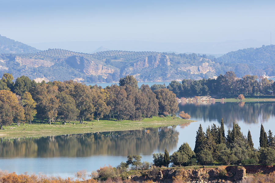 Alora Spain  city photos : Guadalhorce Dam, Near Alora, Spain is a photograph by Ken Welsh which ...