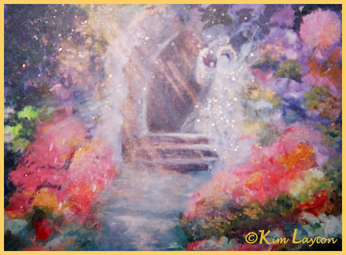 Guardian Angel Painting  - Guardian Angel Fine Art Print