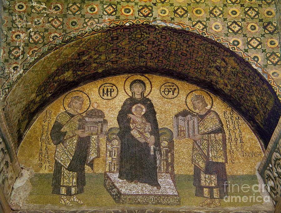 6th Century Photograph - Hagia Sophia: Mosaic by Granger