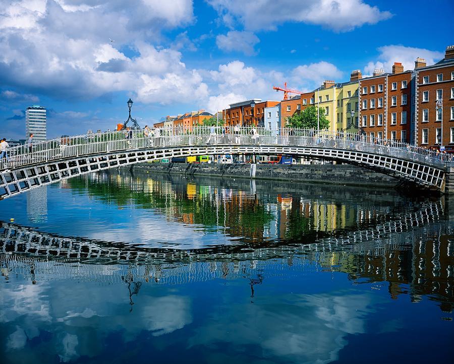 Hapenny Bridge, River Liffey, Dublin Photograph