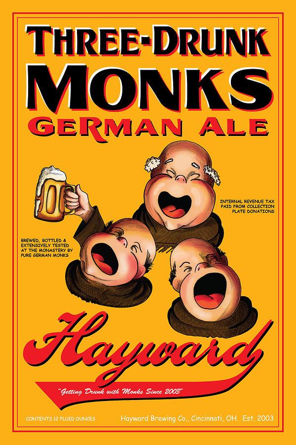 Hayward Three Drunk Monks Drawing