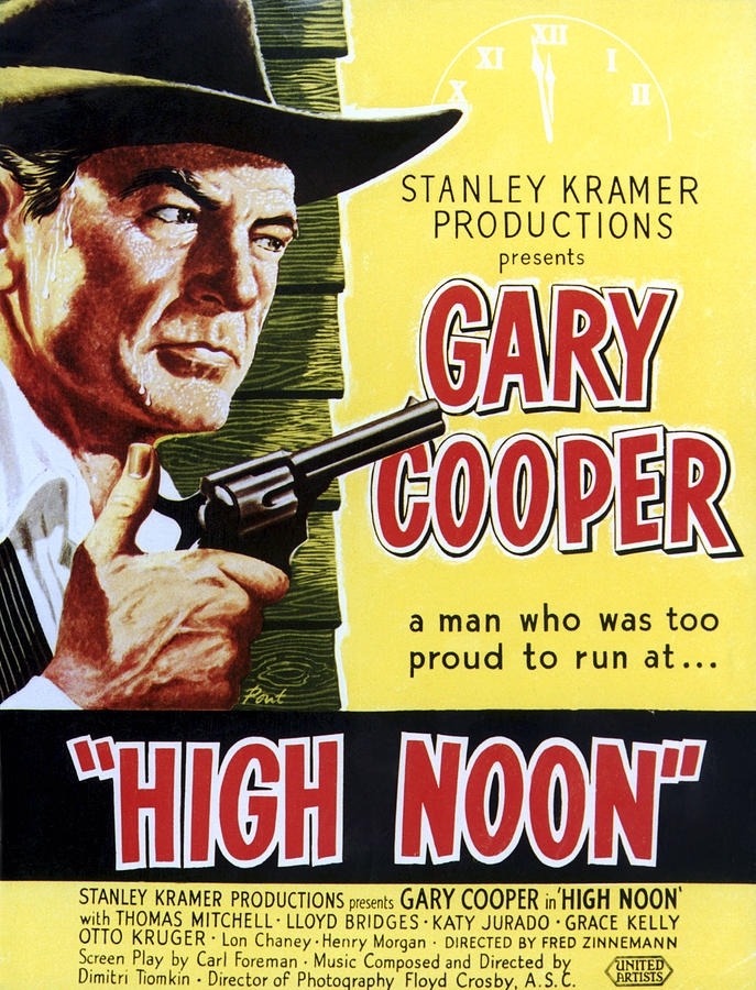High Noon, Gary Cooper, 1952 Photograph