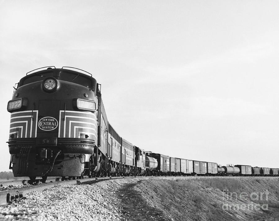 Historic Freight Train Photograph