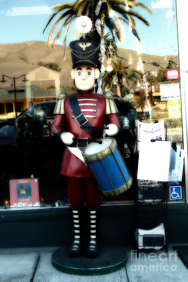 Historic Niles District In California Near Fremont . Little Drumer Boy At The Vine . 7d10691 Photograph  - Historic Niles District In California Near Fremont . Little Drumer Boy At The Vine . 7d10691 Fine Art Print