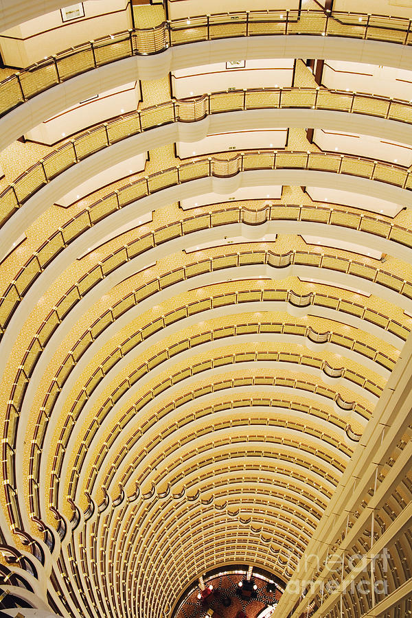 Hotel Atrium In The Jin Mao Tower Photograph  - Hotel Atrium In The Jin Mao Tower Fine Art Print