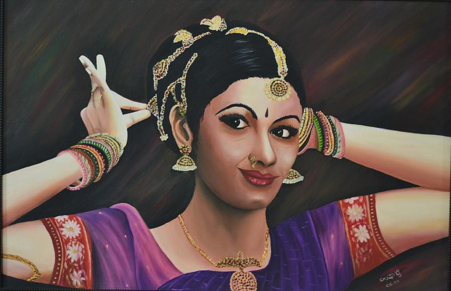 Indian Dancer Painting  - Indian Dancer Fine Art Print