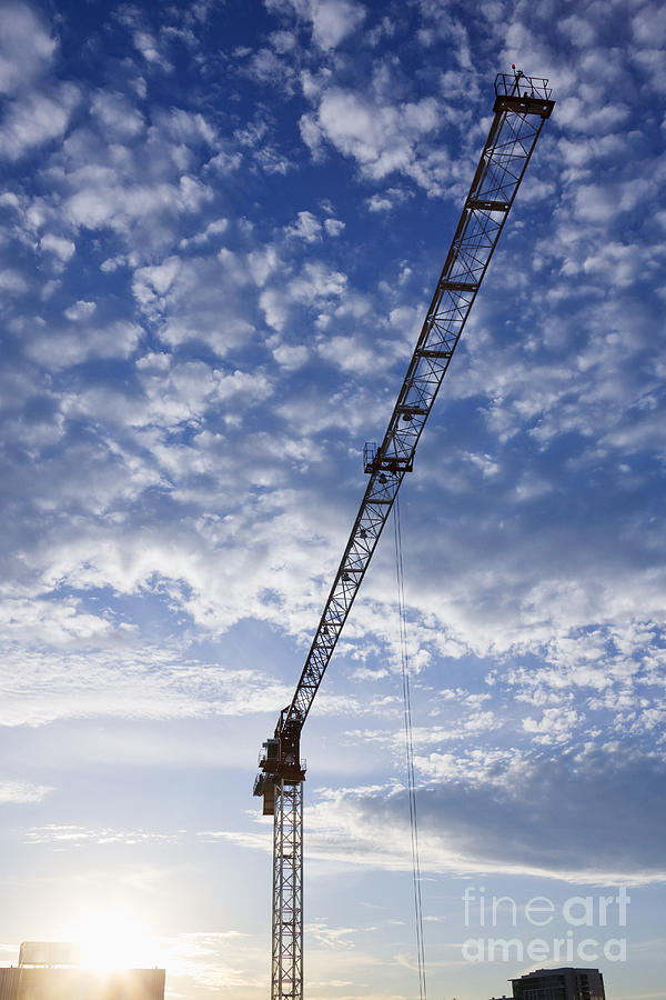 Blue Skies Photograph - Industrial Crane by Jeremy Woodhouse
