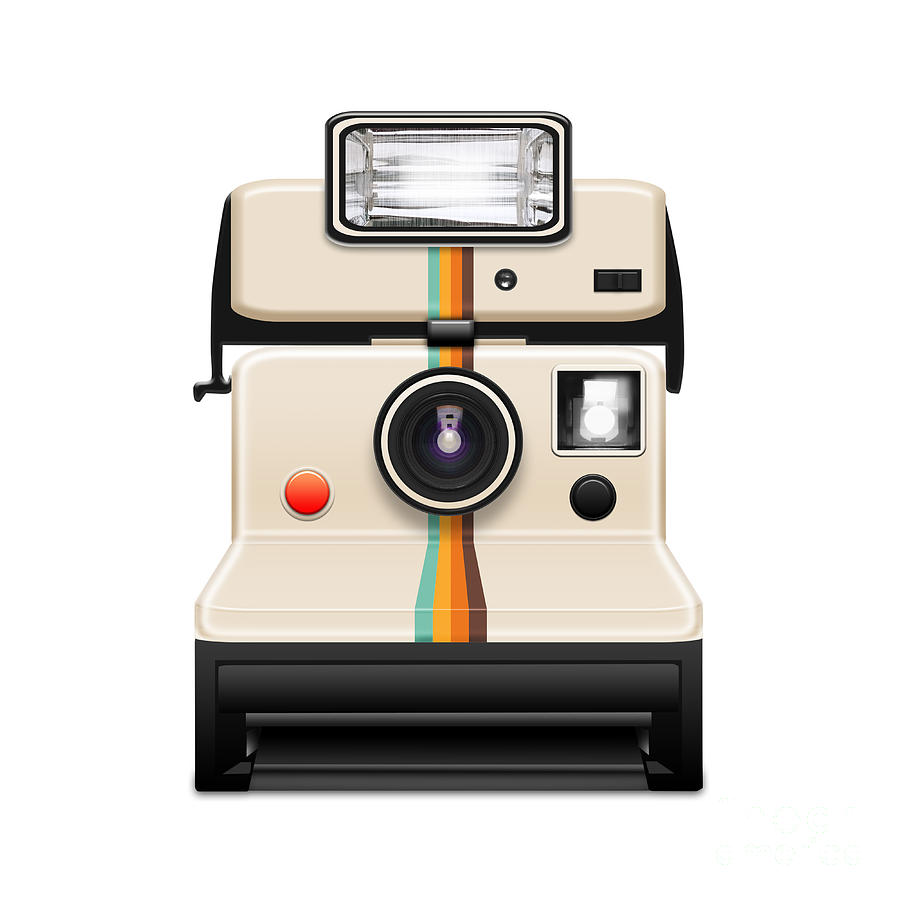 Instant Camera With A Blank Photo Photograph  - Instant Camera With A Blank Photo Fine Art Print