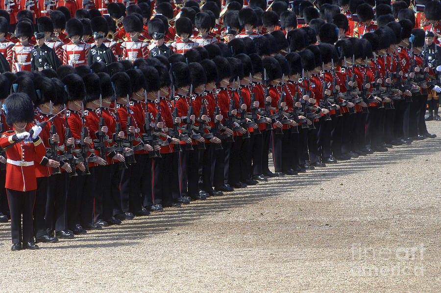 Irish Guards March Pass During The Last Photograph  - Irish Guards March Pass During The Last Fine Art Print