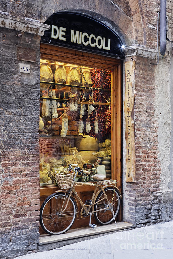 Italian Delicatessen Or Macelleria Photograph  - Italian Delicatessen Or Macelleria Fine Art Print