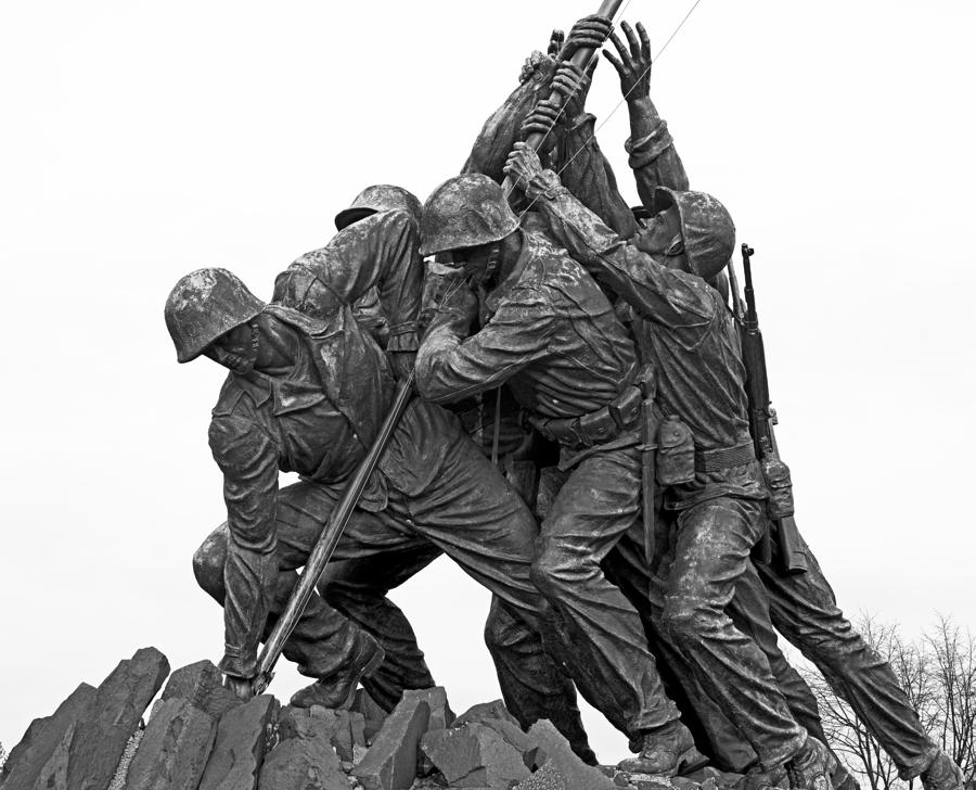 Iwo Jima Memorial In Arlington Virginia Photograph