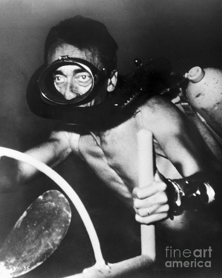 Jacques Cousteau (1910-1997) Photograph  - Jacques Cousteau (1910-1997) Fine Art Print