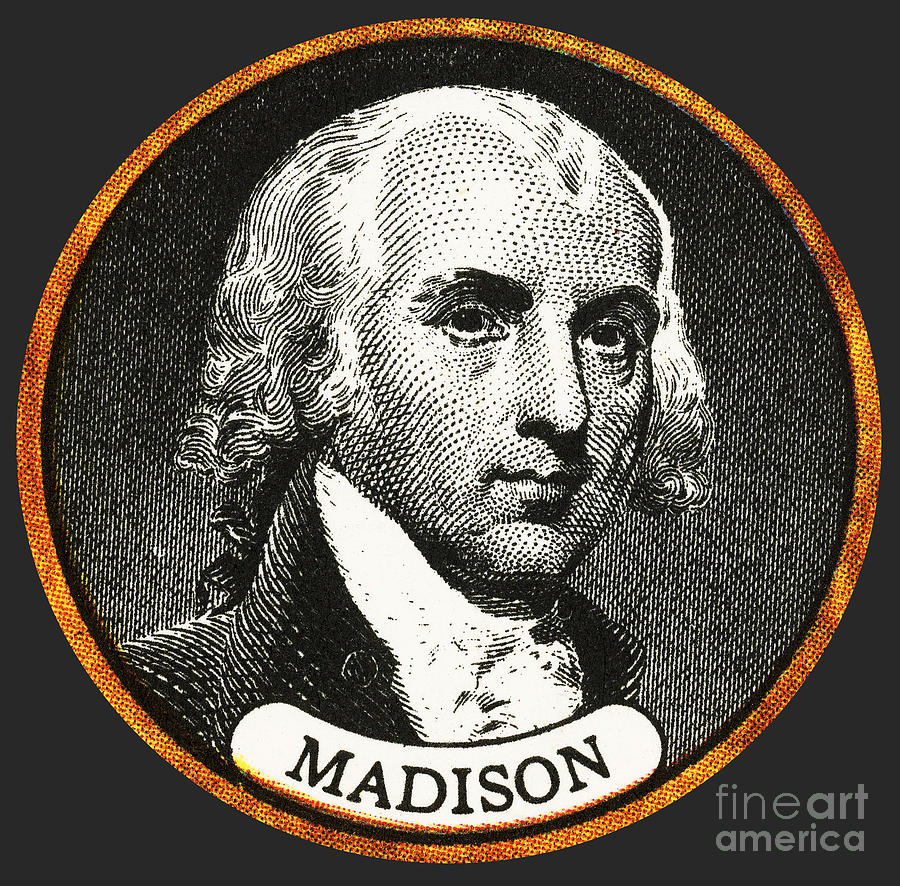 James Madison, 4th American President Photograph  - James Madison, 4th American President Fine Art Print