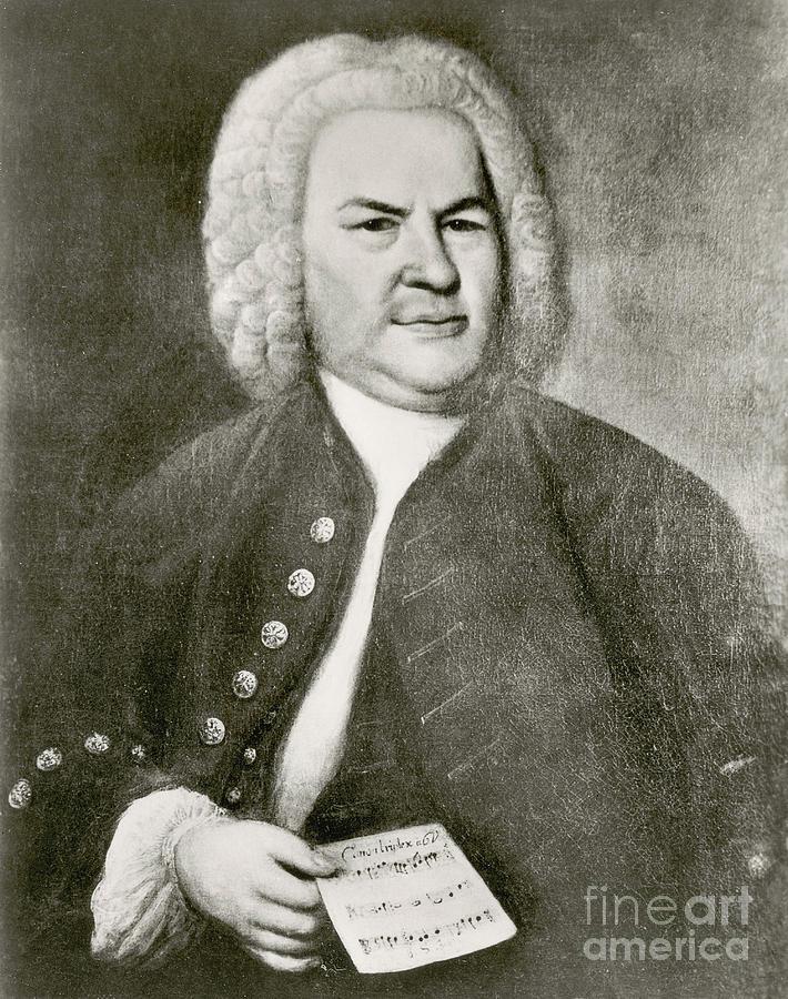 Art Photograph - Johann Sebastian Bach, German Baroque by Photo Researchers