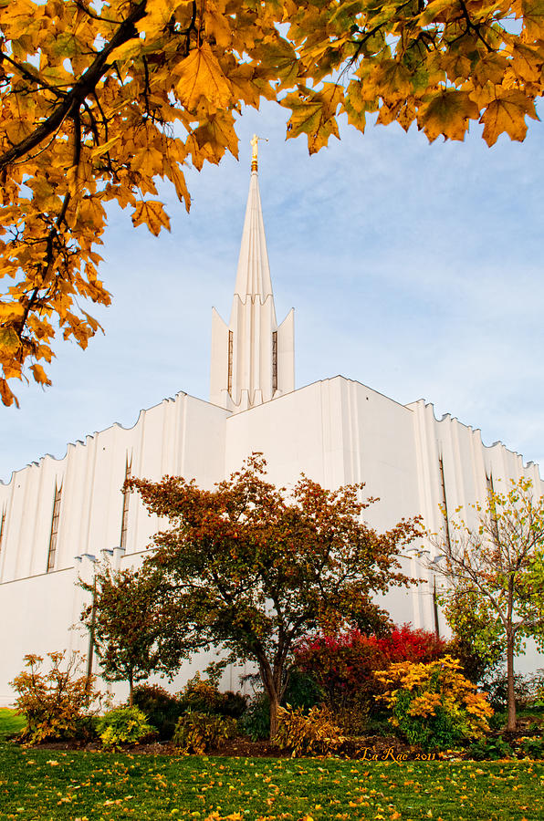 Jordan River Temple Photograph