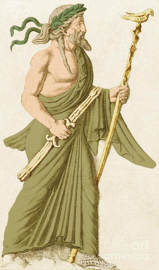 Jupiter Roman God By Photo Researchers