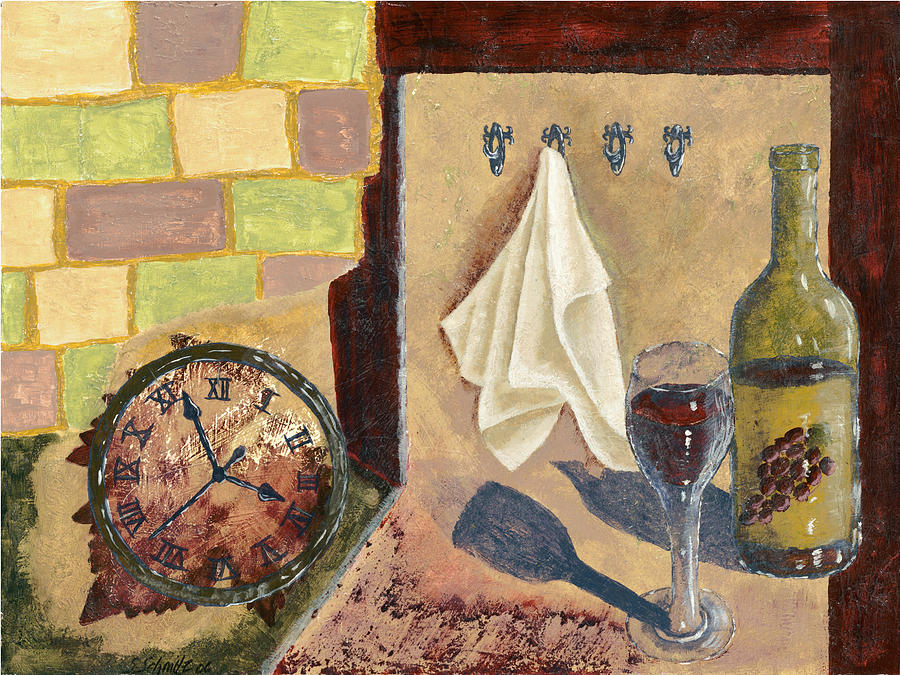 Kitchen Collage Painting  - Kitchen Collage Fine Art Print