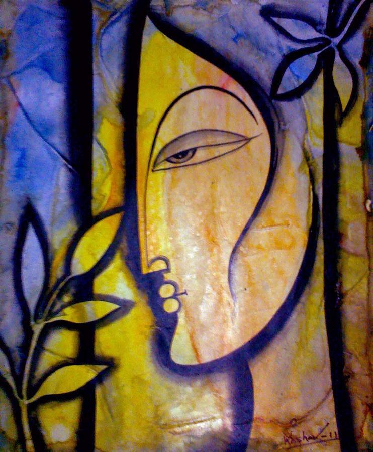Women Figarative Painting - Lady by Keshaw Kumar