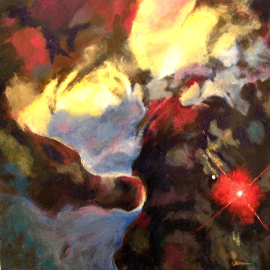 Lagoon Nebula Detail Painting