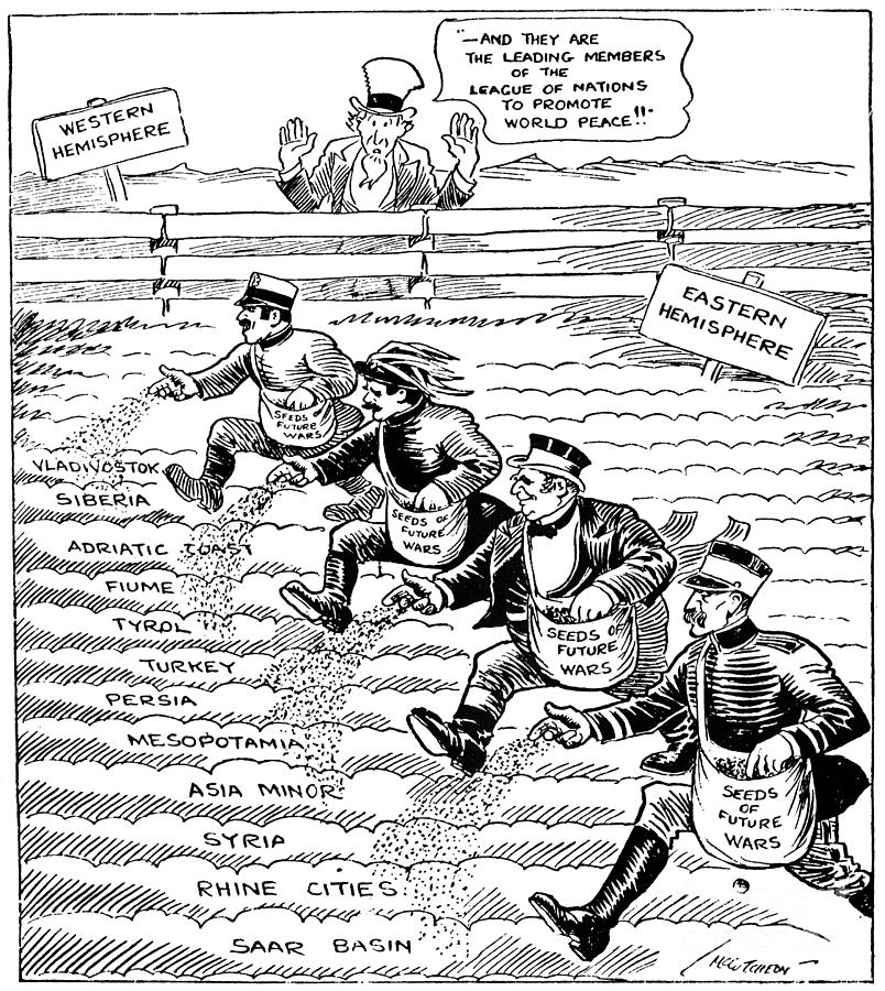 1920 Drawing - League Of Nations Cartoon by Granger