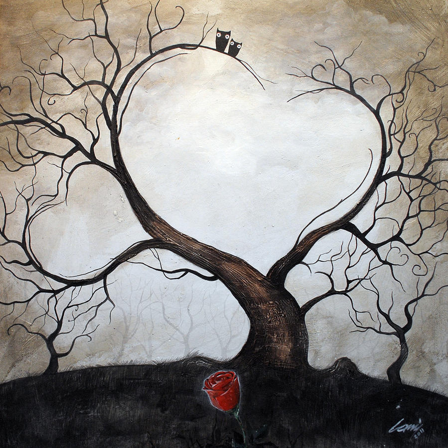 Love Tree Painting  - Love Tree Fine Art Print