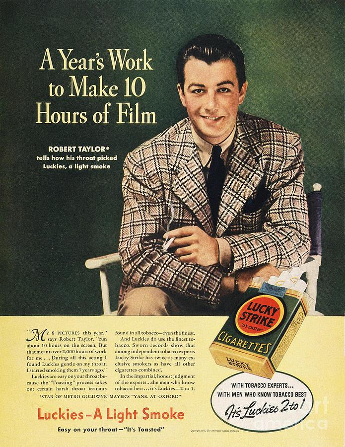 Lucky Strike Cigarette Ad Photograph
