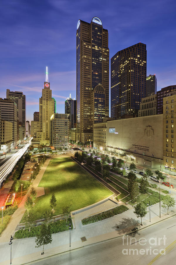 Main Street Garden Park In Downtown Dallas Photograph