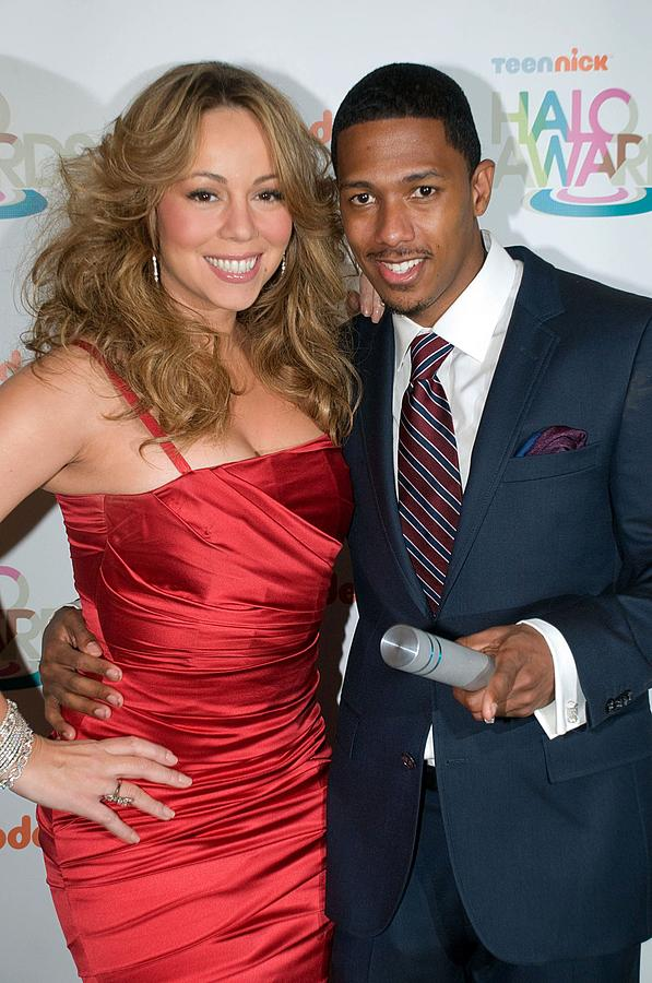 Mariah Carey, Nick Cannon At A Public Photograph  - Mariah Carey, Nick Cannon At A Public Fine Art Print