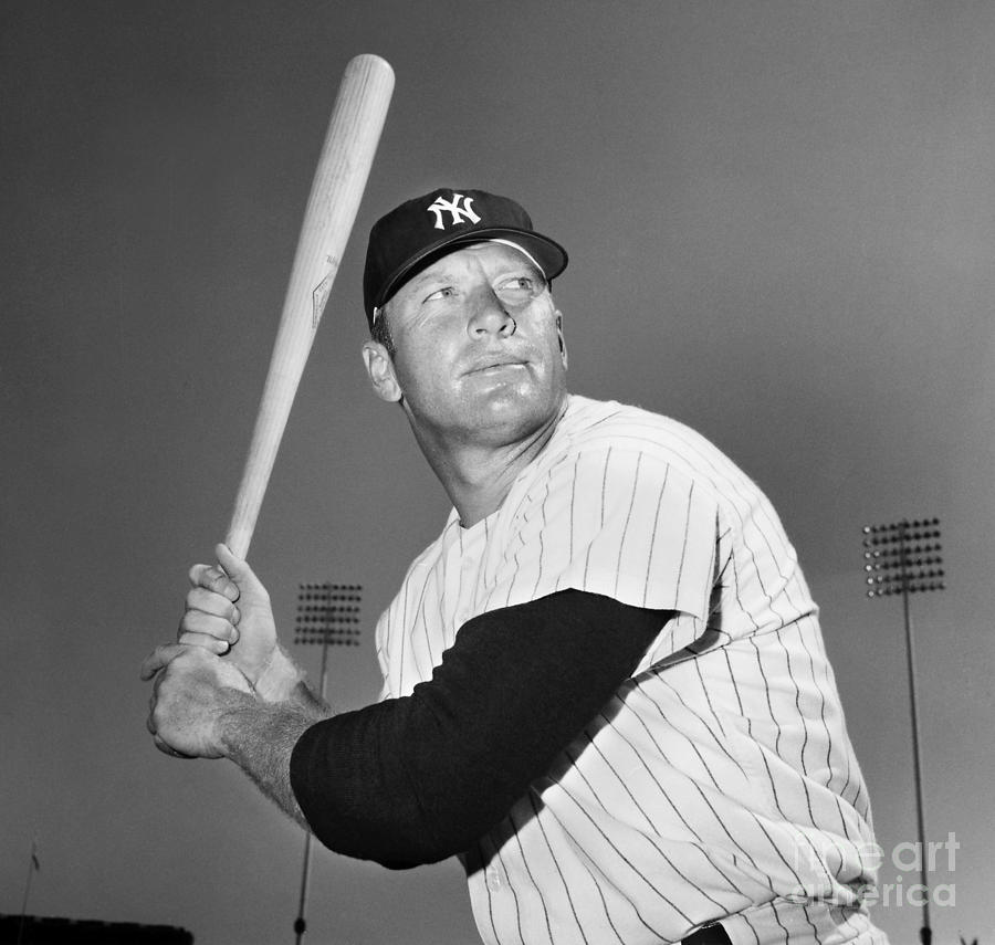 Mickey Mantle (1931-1995) Photograph  - Mickey Mantle (1931-1995) Fine Art Print