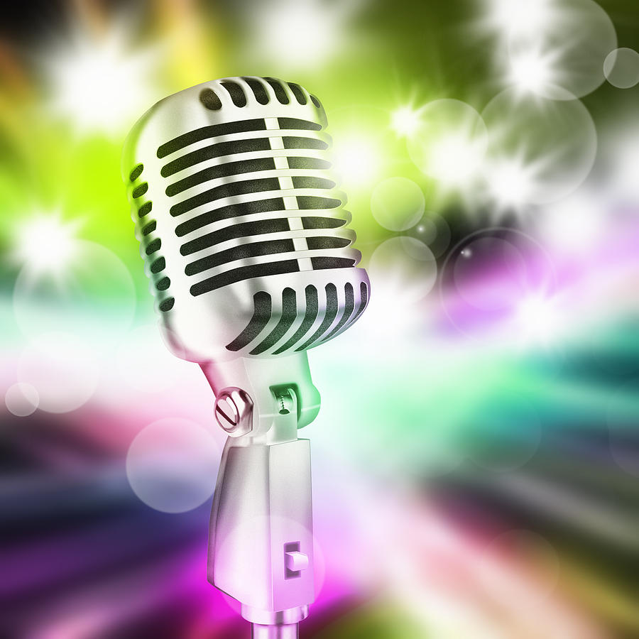 Microphone On Stage Photograph